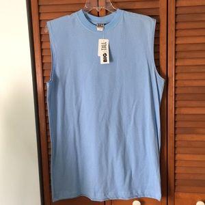 Men's large tall Carolina blue no sleeve shirt